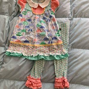 Matilda Jane Raindrops dress & Pedal Faster pants